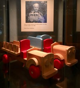 Wooden cars from the Frank Perry Collection.