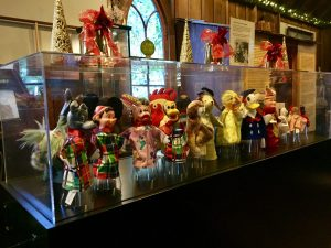 Puppets from the Truella Lund Collection. Truella was the first female police officer in Santa Cruz.