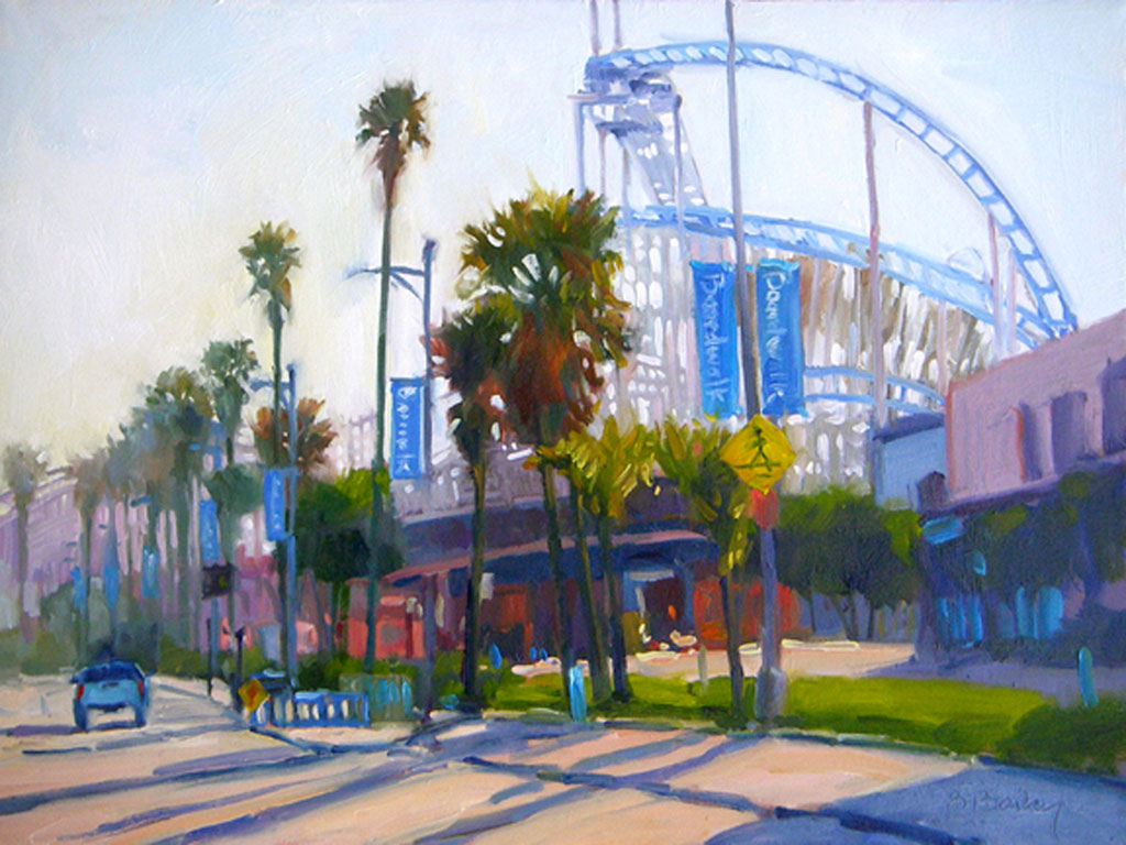 """Boardwalk Palm, Early Morning"" by Barbara Bailey-Porter."