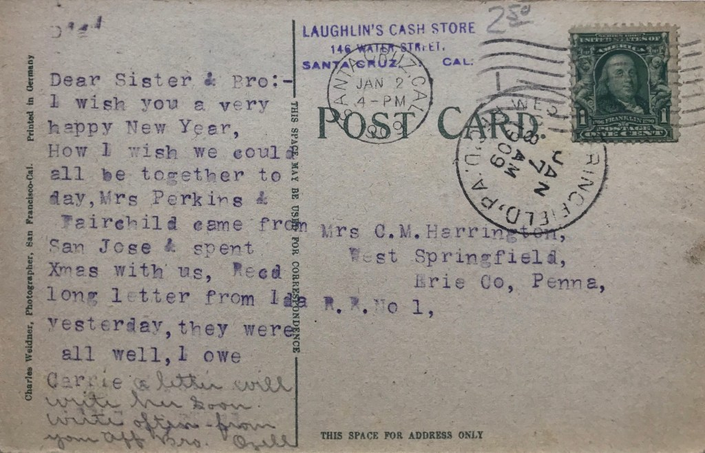 Laughlins Cash Store 1909