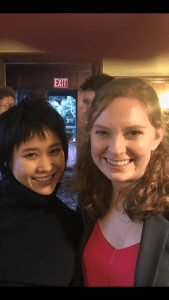Yuja Wang with Santa Cruz Symphony Director of Administration, Education and Development, Cordelia Neff.
