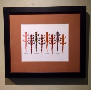 """""""Ensatina Salamanders"""", by Ben Witzke."""