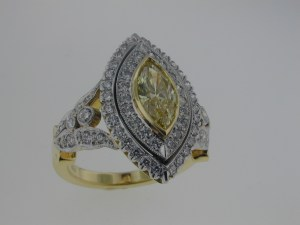 Handmade ring by Mark Areais Jewelers