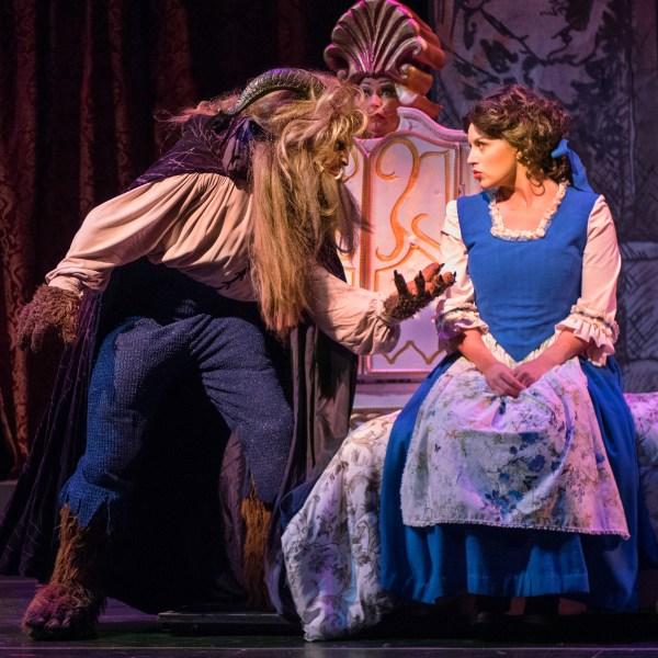 Mathew Taylor (Beast) and Emily Mairi Marsilia (Belle).