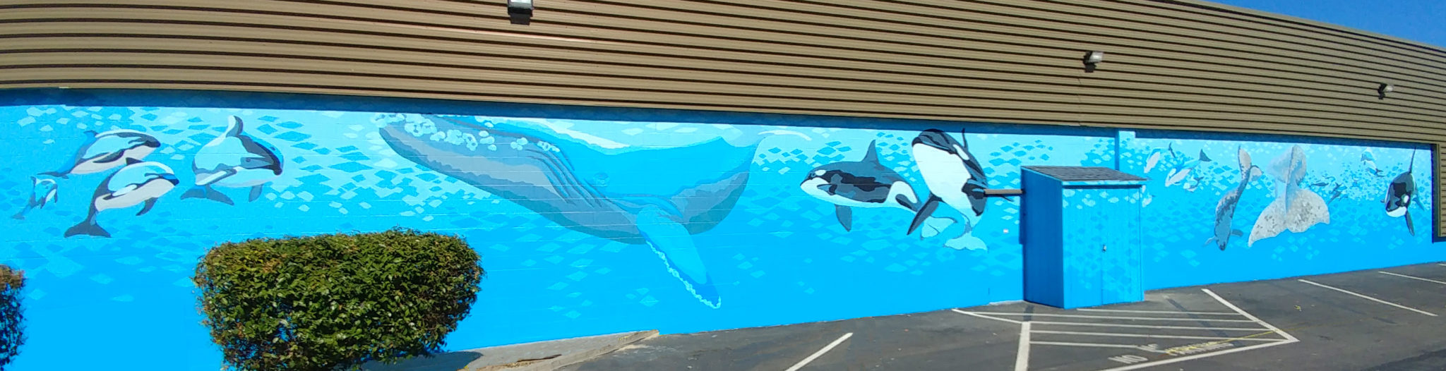 Laurel Bushman - Blue Monterey Bay Mural