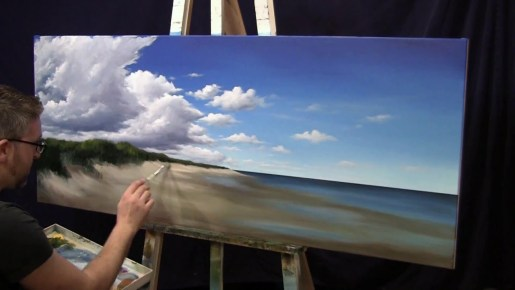 Painting a Beach - 5 Minute Time Lapse