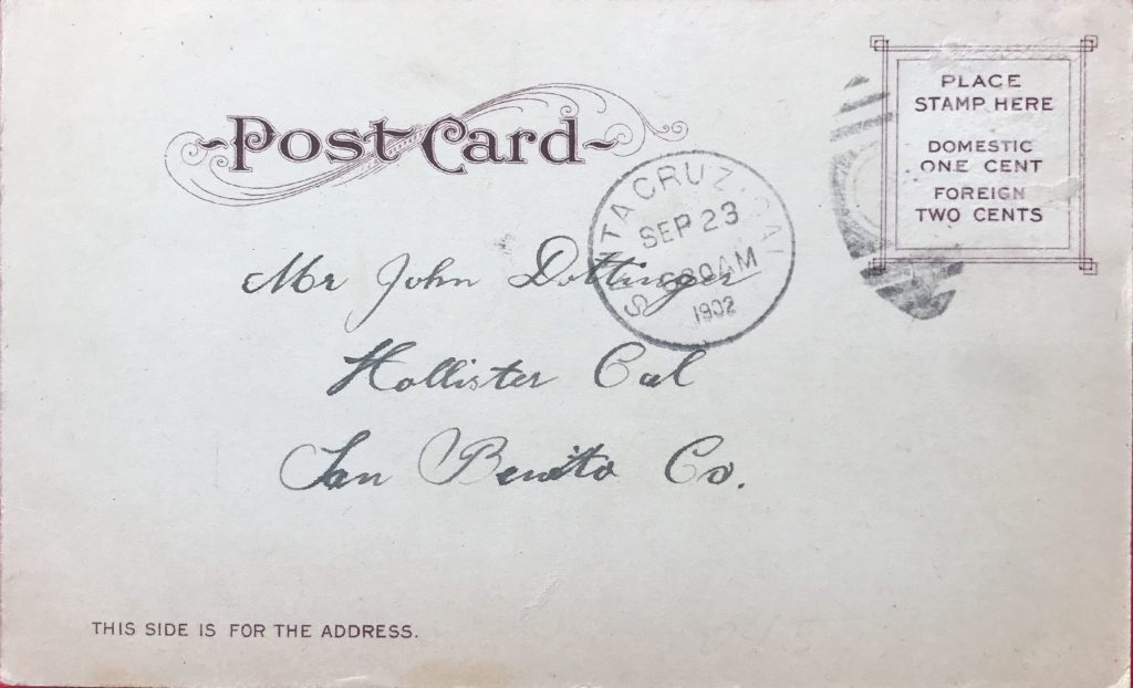 Santa Cruz Summer 1902