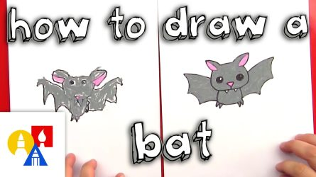 Video: How to Draw a Bat