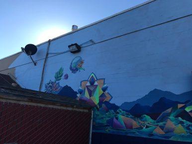 Rachel Barnes - Mandala Mural in Progress: Featured Artwork