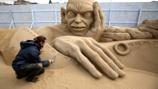 Time Lapse Sand Sculpting