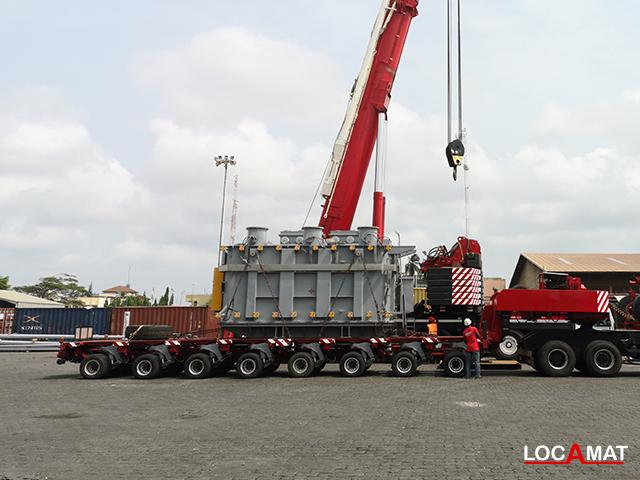 Remorque Goldhofer THP 8 lignes 100 tonnes Lomé Togo Ouest Afrique