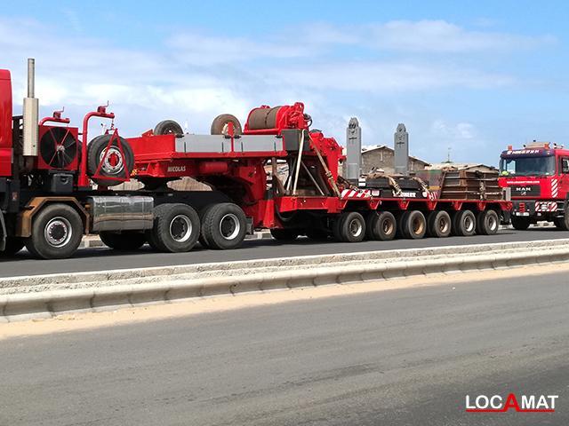 Remorque Nicolas MDE 6 lignes 80 tonnes Lomé Togo Ouest Afrique