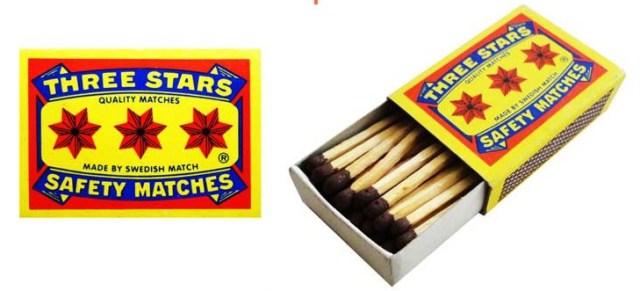 three_stars_household_safety_matches_china