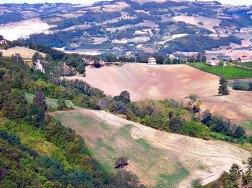 Vista della locanda dalla Rocca