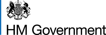 HM Government logo for footer