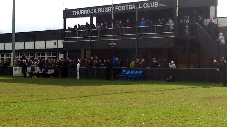 Thurrock Rugby Football Club stand