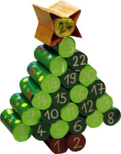 Calendario adviento arbol navidad