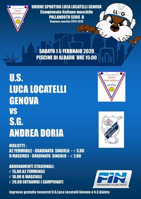 Serie B M : Programma 5^ Giornata