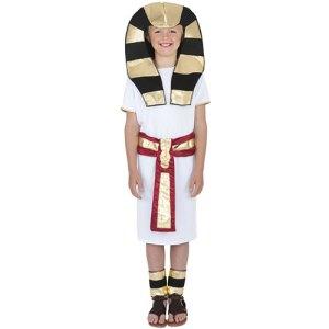 Costume enfant égyptien blanc doré