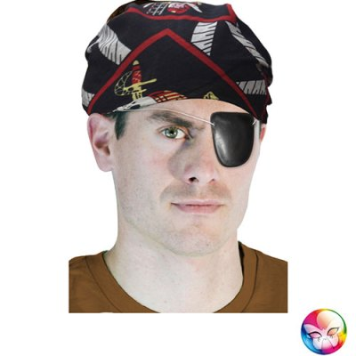Bandana pirate noir imprimé