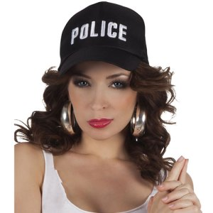 Casquette police noire