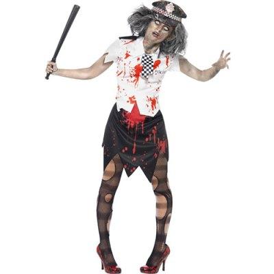 Costume femme policière zombie