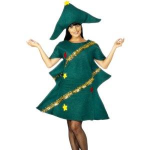 Costume femme sapin de Noël guirlande