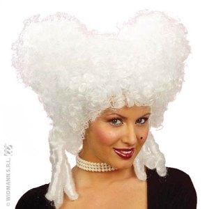 Perruque reine baroque blanche
