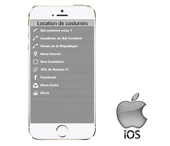 Notre application sur IOS