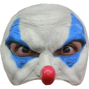 Demi masque clown joyeux adulte