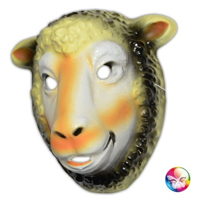 Masque plastique rigide mouton adulte