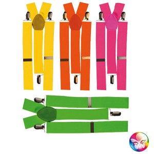 Bretelles fluo différents coloris