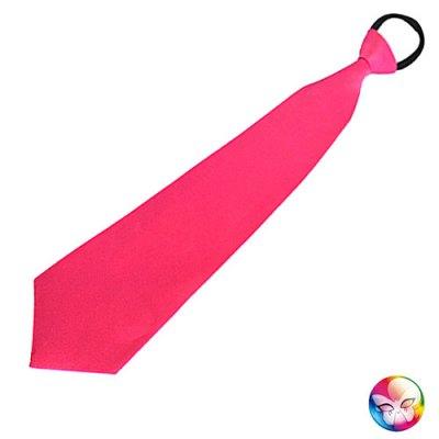 Cravate rose satinée