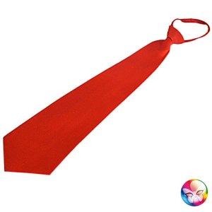 Cravate rouge satinée