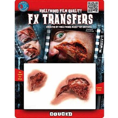 Joue déchirée Transfert 3D
