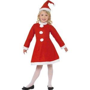 Costume enfant petite Santa rouge