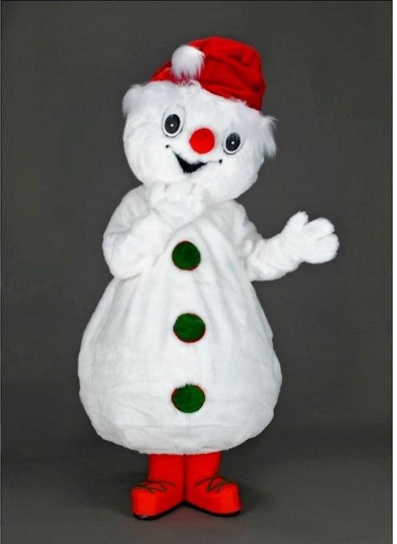 Location mascotte bonhomme de neige en peluche (2)