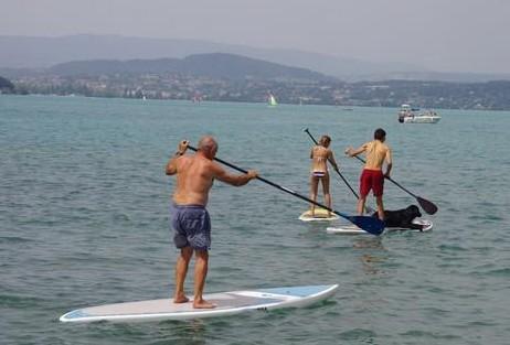balade en SUP sur le lac d'Annecy