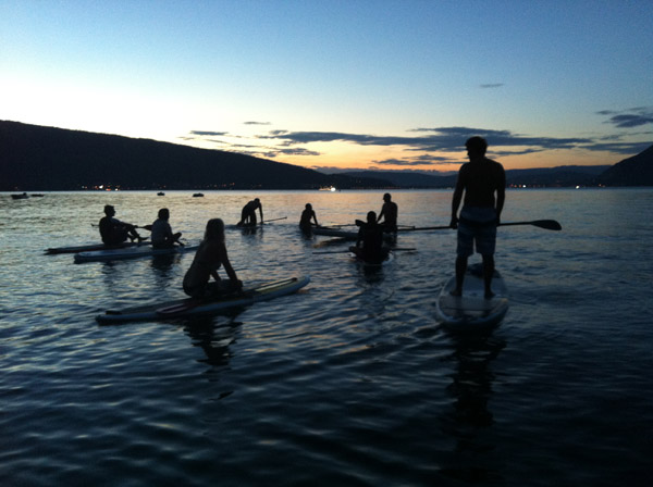 rando stand up paddle after work lac annecy