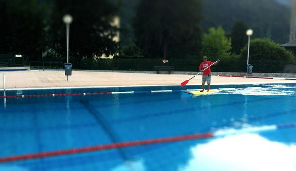Jeux nautiques de thônes : stand up paddle