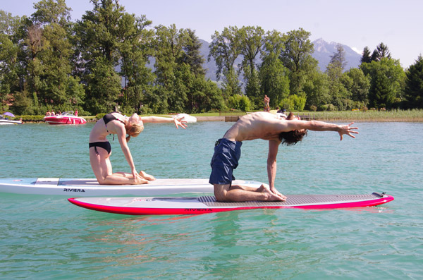 yoga stand up paddle annecy