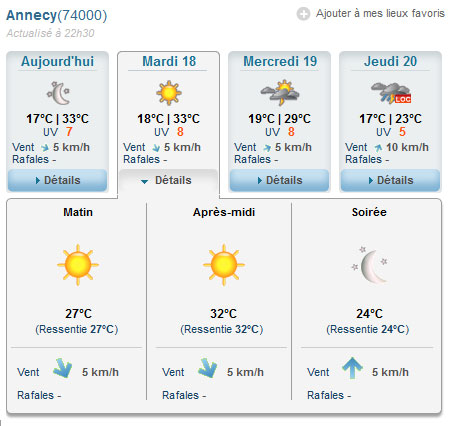 32° à Annecy le 18 juin
