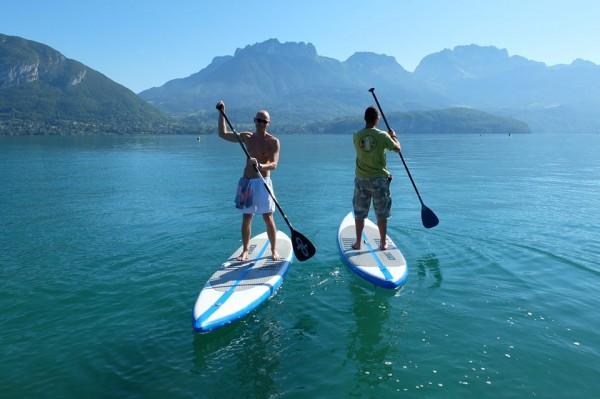 Canon le lac pour le paddle en septembre