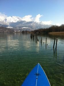 le printemps arrive ! reprise du stand up paddle sur le lac d'Annecy