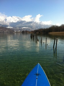 le printemps arrive ! reprise du stand up paddle sur le lac d'Annecy