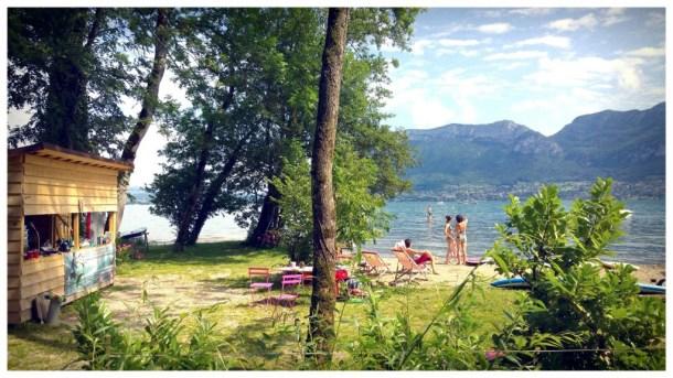 Un coin de paradis au bord du lac d'Annecy