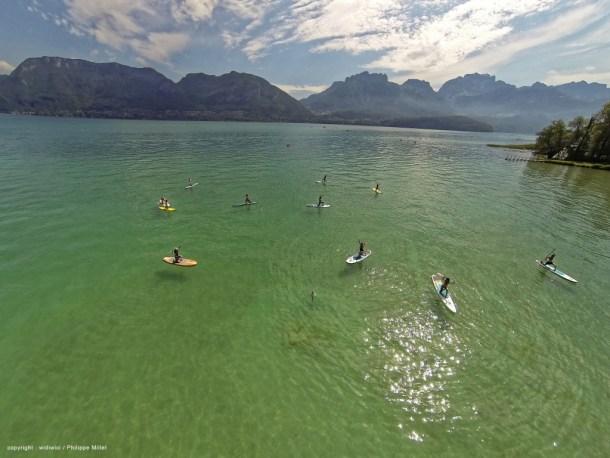 Paddle Yoga sur le lac d'Annecy