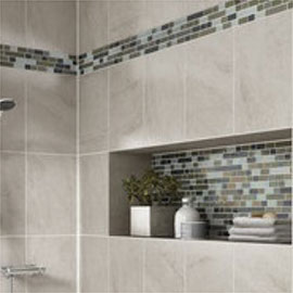 daltile tile stone wall and