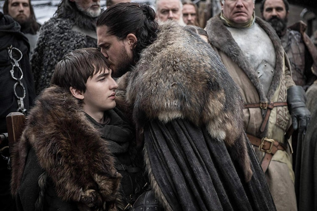 Kit Harington e Iaac Hempstead Wright in Game of Thrones 8