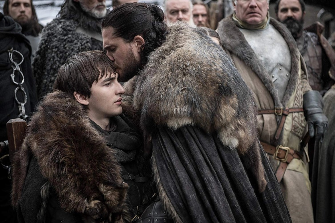 Kit Harington and Isaac Hempstead Wright in Game of Thrones 8